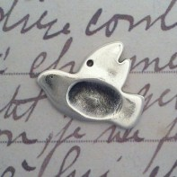Silver Fingerprint Dove Charm by SilverEdge Designs