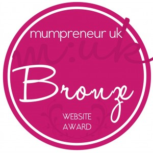 We won! Mumpreneur UK Bronze Website Award
