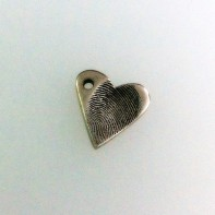 Silver Heart Fingerprint Charm