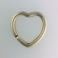 Sterling Silver Heart Shaped Keyring