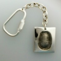 Under the thumb print keyring