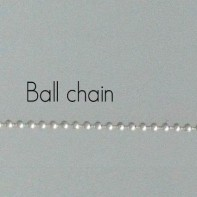 Stirling Silver Ball Chain Necklace